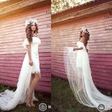<b>Romantic off Shoulder</b> Short Sleeve Beach Wedding Dresses <b>2015</b> ...