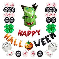 fashionhome <b>Halloween Balloons</b> Set Monster Head Balloons ...