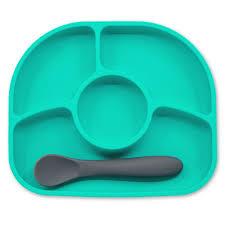 Силиконовая тарелка на присоске и ложка bbluv - ForYourBaby