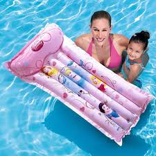 <b>Bestway</b> Inflatable Princess Beach Mat Floating Lounge Bed ...