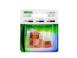 <b>Клемма</b> WAGO универсальная <b>3</b>-х проводная 6 шт/уп, <b>221-413</b> ...