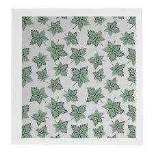 <b>Полотенце 30</b>×<b>30 см</b> Кленовые листья зеленые #3353456 от ...