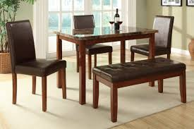 small dining tables sets: this is a bench dining set for a smaller space the small rectangle table accommodates