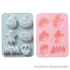 6 Cavity <b>Halloween</b> Ghost <b>Silicone Cake Mold</b> Decor Ice Cube ...