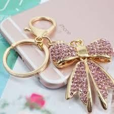 <b>Lipstick</b> Rhinestone <b>Crystal</b> Keyring <b>Charm</b> Pink <b>Pendant</b> Car Gold ...