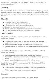 professional foot locker sales associate templates to showcase    resume templates  foot locker sales associate