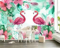 <b>beibehang</b> Custom Wallpaper Home Decorative Fresco Flamingo ...