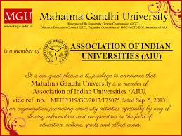 MG University   Education for all MG University   Education for all Member of Association of Indian Universities  AIU