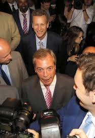 「英独立党のファラージュ党首」の画像検索結果