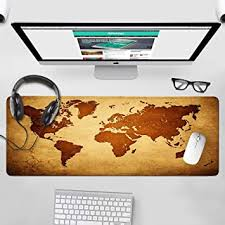 C O D i CODi Designer <b>World Map Anti</b>-<b>Skid</b> Vegan Leather Mouse ...