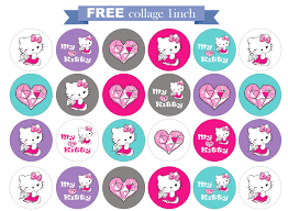 printable hello kitty clipart clipartfest hello kitty bottle cap