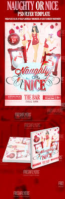 naughty or nice christmas flyer template christmas party flyer naughty or nice christmas flyer template