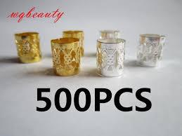 <b>wholesale 500Pcs</b>/Lot Golden/Silver metal adjustable hair braid ...