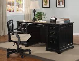 black office tables alluring for your home decoration planner with black office tables home furniture black wood office desk 4