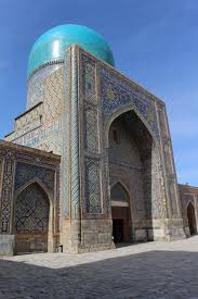 samarkand photo essay the registan pashbymaul adventures exterior of the gilded mosque in the tilya kori madrasah