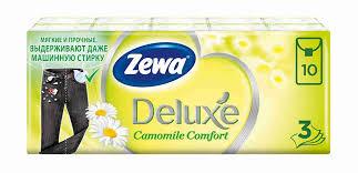 <b>Платки носовые Zewa</b> Deluxe с ароматом ромашки 10х10 ...