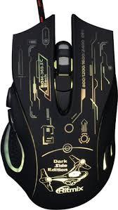 Проводная игровая <b>мышь Ritmix ROM-365 SC</b> (черная) — купить ...