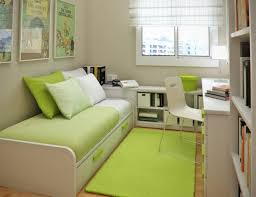 charming decorate small bedroom with green shag area rug and space saving bed design plus comfy charming shag rugs