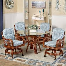 dining room sets caster chairs