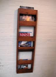 magazine rack wall mount:  images about newspaper racks on pinterest wall mount shelves and wood magazine
