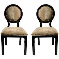 pair of luxe art deco occasional chairs in embossed python velvet 1 art deco dining arm