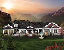 Bedroom Rambling Ranch Home Plan   AH   st Floor Master    Plan AH ArchitecturalDesigns com