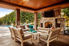 patio covers design covered architecture elegant deluxe house design with classic wood architecture and antique fireplace also large swimming pool top great brown covers outdoor patio