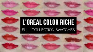 L'Oréal <b>Color Riche</b> | Full Collection Swatches! - YouTube