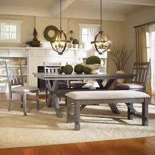 Farmhouse Style Dining Room Sets Amazing Dining Room Sets With A Bench Paint Artenzo