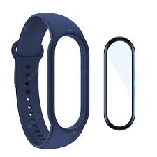 Silicone Watchband + Screen Protector Film for Xiaomi Mi Band 5 ...