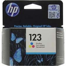 <b>Картридж HP</b> F6V16A (№<b>123</b>) (трехцветный) Голубой (Cyan) + ...