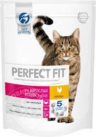 Купить Сухой корм для кошек <b>Perfect Fit Adult</b> с курицей 190г с ...