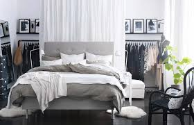 seductive ikea bedroom ideas home design with gray hedaboard bed along white bedding also white curtain bedding for black furniture