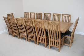 Dining Room Table 6 Chairs Dining Country Oak Large 12 14 Seater Extending Oak Dining Table 6
