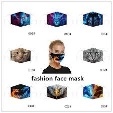 1PC Fashion <b>Digital Printing Protective Mask</b>, Dust and Smog Filter ...