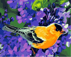 Bird <b>Modern</b> Wall Art <b>Canvas</b> - <b>DIY</b> Paint By Numbers – Numeral Paint