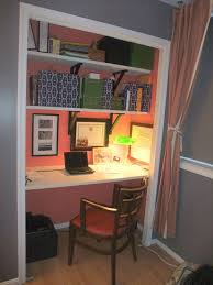 convert a wide closet to an office space the gorgeous interior color helps set it bury style office desk desks