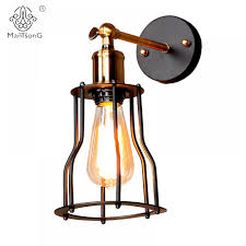 Loft Iron Industrial <b>Wall</b> Light <b>Adjustable New Design</b> E27 Holder ...