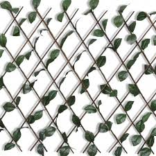 Willow <b>Trellis Fence 5 pcs</b> with Artificial Leaves 180x90 cm - Code ...