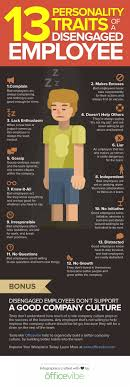 personality traits of a disengaged employee ly 13 personality traits of a disengaged employee infographic