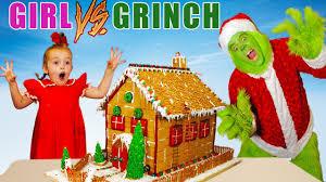 <b>Girl</b> vs Grinch Challenge! Will She Save <b>Christmas</b>? The Grinch in ...