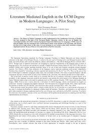 (PDF) Literature Mediated English in the UCM Degree in <b>Modern</b> ...