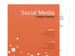 business proposal templates social media proposal template