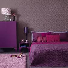 room elegant wallpaper bedroom: awesome home interior bedroom for teenage girl design ideas with execellent brown flourish pattern wallpaper and