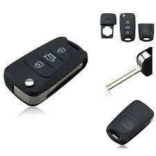 New <b>3 Button Flip</b> Folding Remote Key Fob Shell Case ...