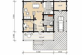 Loghouses projects and building  Wooden houses from Russia  St    The project of house D   Ground floor plan