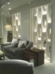 white kitchen windowed partition wall: room partitions walls withdecorative white design completed with dramatic lighting for luxury living room