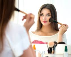 Image result for putting makeup on