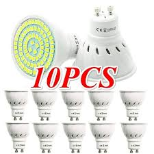 10PCS <b>GU10 220V Lamp</b> Spotlight <b>LED Bulb</b> SMD Spot <b>Light 220V</b> ...