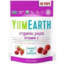 <b>Органические леденцы на палочке</b> YumEarth с витамином С ...